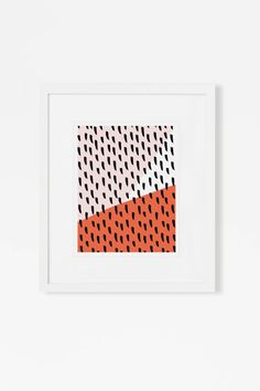 Bold Color Block Art Print - Pink and Coral - Graphic Modern - Vertical or Horizontal - 5x7, 8x10, 11x14 - Affordable Art