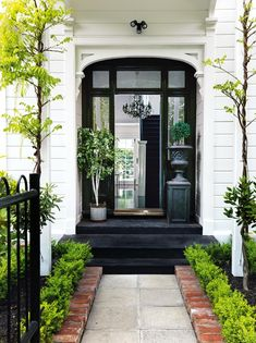 Home Renovation Front Door A much-loved Christchurch home opens its doors as part of the NZ House Garden Front Of House, House Front Door, House Entrance, Entrance Doors, Front Garden Entrance, White House Garden, Exterior House Colors, Exterior Design, Sas Entree