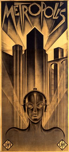 Love this movie but especially love the poster. The amazing German Expressionism mixed with Art Deco aesthetic is so before it's time.