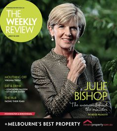 Julie Bishop for June 17th 2015 cover.  Photo by Calum Robertson.
