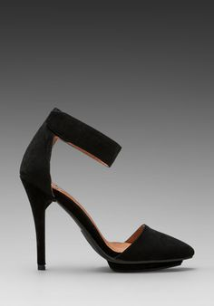 JEFFREY CAMPBELL Solitaire Heel in Black Suede at Revolve Clothing - Free Shipping!