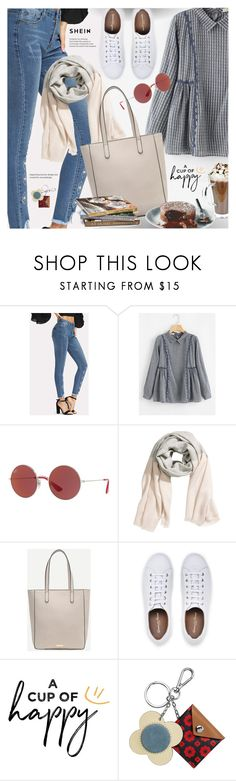"""Coffee Break"" by pokadoll ❤ liked on Polyvore featuring Ray-Ban, H&M and Orla Kiely"