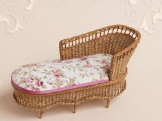 WC/028, wicker lounge chair, scale 1 : 12, made by Will Werson.