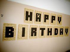 Minecraft happy birthday banner/bunting