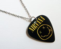 Guitar Pick Necklace Nirvana. So want this!