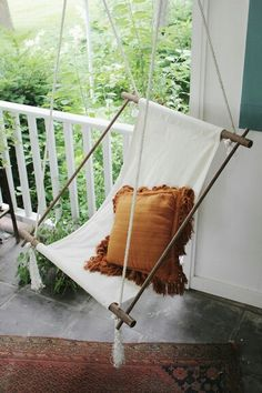 DIY hanging rope chair