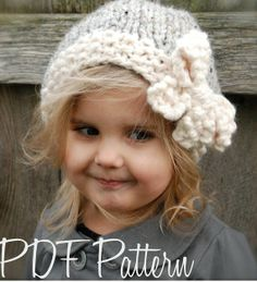 Knitting PATTERN-The Vivian Slouchy (Toddler, Child, Adult sizes) - Crochet & Knitting Instant Download Patterns for Baby and Audlt