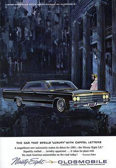 Items similar to 1963 Oldsmobile Ninety Eight LS Car, Original Print Ad, Olds Mid Century Auto Advertising Artwork, Wall Decor on Etsy Oldsmobile Cutlass, Oldsmobile Delta 88, Cadillac Fleetwood, Vintage Advertisements, Vintage Ads, Vintage Signs, Audi A4, Corvette, Jeep Viejo