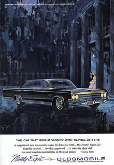 1963 Oldsmobile 98 Sedan Ad ★。☆。JpM ENTERTAINMENT ☆。★。