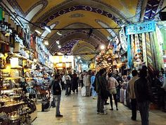Istanbul - the grand bazaar, over 4,000 shops! @Amy Holstege and i totally got lost in here! [been there]