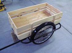 cargo bike Several bike trailer conversion/scratch builds. Chariot Velo, Bike Wagon, Bike Cart, Trailer Diy, Diy Crafts To Do, Cargo Trailers, Cargo Bike, Custom Bikes, Custom Motorcycles