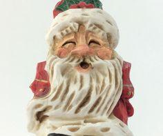SANTA CLAUS Hiding Music David Frykman Vintage Figurine Christmas Holiday 1995  #DavidFrykmanCollection