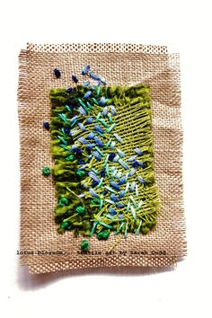 pip's carpet, hand stitched textile art by lotus blossom (sarah dodd)