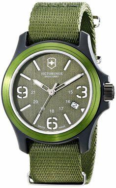 I am green and I am mean: VICTORINOX Resin Watch With Green Nylon Band. The colour spot you need.   #VICTORINOX   #KhaValeri   https://ro.pinterest.com/KhaValeri/    kha_amz_VICresin1305_v12