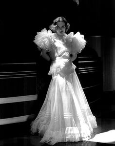 "Joan Crawford on ""Letty Lindon"" 1932, dress by Adrian"