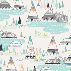 Indian Summer Fabric Swatch IS-50010 Woodland Pine