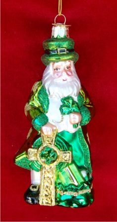 Buy Warm Winter Welcome Irish Santa personalized Christmas ornament by Russell Rhodes. Browse more than 3000 ornaments personalized for all occasions. Christmas In Ireland, Irish Christmas, Santa Christmas, Christmas Time, St Patrick's Day Decorations, Personalized Christmas Ornaments, Leprechaun, Glass Ornaments, St Patricks Day