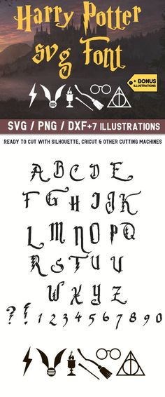 ❤Harry Potter Svg,Harry Potter font svg,Harry Potter font svg files for Cricut,Harry Potter svg for Silhouette,Harry Potter cut file,fonts #harrypotter #fonts #svg #cutfiles #ad #graphics #cricut #silhouette #etsy