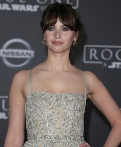 Felicity Jones at the world premiere of 'Rogue One: A Star Wars Story' at the Pantages Theater in Hollywood on December 10, 2016