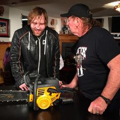 WWE Hall of Famer Terry Funk brings Dean the gift of a chainsaw! Wrestlemania 32, Wwe Dean Ambrose, Adam Cole, Lucha Underground, Wwe Photos, Wwe Wrestlers, Chainsaw, Favorite Person, Superstar