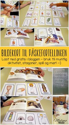 Ulike måter å jobbe med bildekort i klasserommet! Fokus på varierte muntlige aktiviteter, innholdsforståelse, gjenfortelling og mye mer. Passer for absolutt alle fag. Last ned gratis bildekort i bloggen! Montessori, Language, Culture, Education, Games, Halloween, School, First Grade, Languages