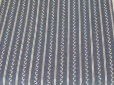 Blue White Stripe Fat Quarter Vintage Fabric FQ by dalesdreams