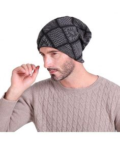 68d29052ee8 Beanie Hat Knit Hat Winter Skull Wool Hat Windproof for Men   Women (Dark  Grey) One Size C312LW4YBW7