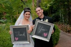 "Revived Vintage Chalkboards: Wedding Chalkboards....as the ""Thank You Card Photo"" Great Idea!"