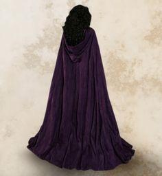 Purple Hooded Cloak   Details about Purple Hooded Cloak Velvet Wedding Cape Halloween Coat ...