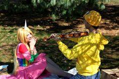 #Cosplay  #Couples #AdventureTime #JaketheDog & #LadyRainicorn  Awww so cute