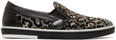 Jimmy Choo - Grey Leopard Grove Slip-On Sneakers