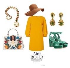 """""""Aire Boho"""" by taniamandavela on Polyvore featuring Gucci, TIBI and Dolce&Gabbana"""