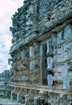 'Palace of the Masks'. Or 'Codz Poop'. Kabáh Archaeological Ruins. State Of Yucatán On The Yucatán Peninsula, México.