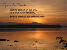Still almost feels like summer but it's almost gone.waterfront sunset from Hornby Island Inspiring Sayings, Inspirational Quotes, Photo Editor, Feels, Ocean, Canada, Homes, Island, Sunset