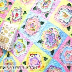 French Roses quilt pattern by Heather French at Pink Paper Peppermints blog