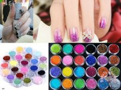 Micro Glitter Dust Powder Set Nail Art Polish UV Gel Tips Decoration #eozy