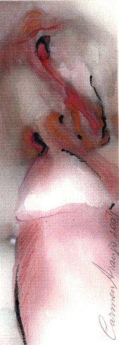 """""""Eros 2"""" - Aquarela. Projeto """"Delta Z"""". Setembro 2004. Arte Erótica."""