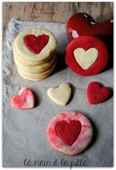 Sablés bicolores à la vanille pour la Saint Valentin -