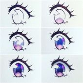 Dark red, purple, dark blue and browns are my favorite to spice up the eyes. How To Draw Anime Eyes, Manga Eyes, Draw Eyes, Realistic Eye Drawing, Manga Drawing, Eye Drawing Tutorials, Art Tutorials, Art Drawings Sketches, Cute Drawings