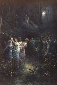 "Gustave Doré (French), ""A Midsummer Night's Dream"", с.1870"