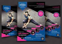 Health And Fitness Flyer Bundle Free Psd  Sports Clubs Gym
