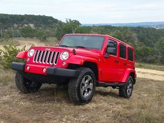 Perfect stocking stuffer: Jeep Wrangler Unlimited  Sahara 4x4 in Red