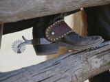 Close View of a Cowboy Boot, Complete with Silver Spur Photographic Print by Stacy Gold