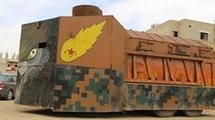 Check Out These Homemade Kurdish Tanks — They're terrible - An improvised ambulance in the Rojava region of Kurdistan