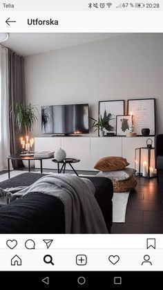salon inspo | zone de divertissement, noir et blanc #blanc #divertissement #inspo #salon