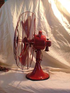 Red vintage fan