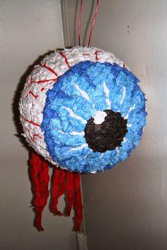 An Enticing Oasis of Creativity!: Eyeball Halloween Pinata