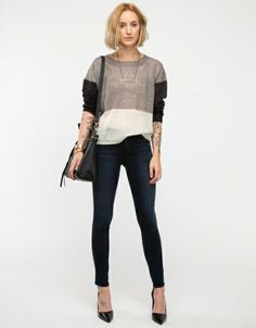 Neutral Block Sweater