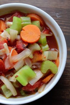 """<p>Recipe here: <strong><a href=""""http://www.tammileetips.com/2014/01/weight-watchers-vegetable-soup/"""" target=""""_blank"""">WEIGHT WATCHERS VEGETABLE SOUP</a></strong></p>"""