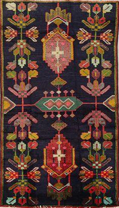 Navy Blue Geometric Transitional Lori Persian Runner Rug Wool Handmade Oriental Kitchen Carpet x Wool Area Rugs, Wool Rug, Navy Rug, Handmade Kitchens, Textiles, Area Rug Sizes, Geometric Rug, Contemporary Rugs, Blue Wool